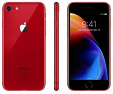 """AT&T / Cricket / h2O Apple iPhone 8 64GB Red 4G LTE Smart 4.7"""" A1863 Cell Phone"""