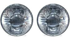 "7"" Sealed Beam 6 Volt Incandescent Glass Headlight Head Light Lamp Bulbs Pair 6V"
