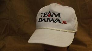 Vtg Team Diawa Jr Fishing Snapback Hat/Cap Kids/Youth