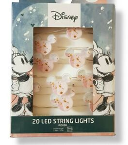 Primark Mickey Minnie Mouse 20 LED String Lights Bedroom Fairy Lights Christmas