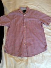 M&S Blue Harbour Blue/ Pink Checked Cotton Shirt Size L Uk BNWT
