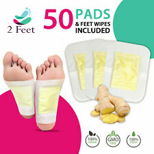 Premium Natural Detox Foot Pads, 50 Patches + Foot Wipes, Organic Ingredients