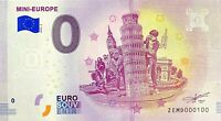 BILLET 0  EURO  MINI EUROPE 2 BELGIQUE 2018  NUMERO 100