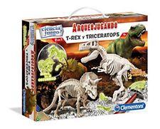 Arqueojugando T-Rex y Triceratops Fluor Clementoni
