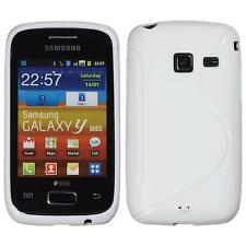 Silicone Case for Samsung Galaxy Y Duos S-Style white + protective foils