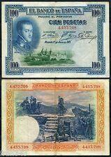 100 Pesetas 1925  FELIPE II SIN SERIE BC / SPAIN 69a F