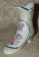 Vintage Small Victorian Style Porcelain Boot Made In Germany