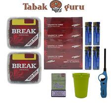 2x Break Volumentabak Giga Box 300g + Break Hülsen + Stabfeuerzeug