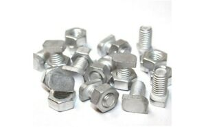 Greenhouse Bolts and Nuts Aluminium 11mm Cropped Head Spare Parts CHOOSE QTY.
