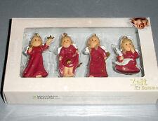 Goebel Hummel Angel Relief Ornament SET/4 Figurines in Bordeaux 828142 New Boxed