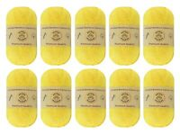 "10-pack Set ""Yellow"" Worsted Bamboo Cotton Yarn Skein - Premium Quality"