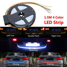 1.5M 4 Color LED Strip Car Rear Trunk Tailgate Brake Turn Signal Light Flow Type