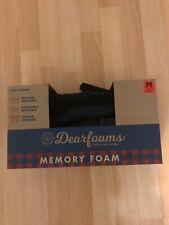Dearfoams Mens Slippers Memory Foam Slippers BLACK, Size M, 8-9, Eur 42 -43, NEW