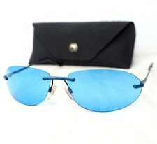 VERSUS by VERSACE sunglasses R44 vintage oval blue sport style rimless