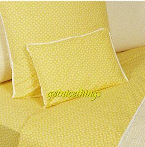 Yves Delorme Un Peu Unpeu Jaune Yellow White Floral Queen Flat Sheet Cotton NWT