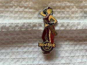 Hard Rock Cafe Pin 2013 Panama Megapolis Blonde Girl in Hat Holding a Violin