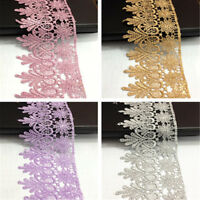 1 Yard Crochet Lace Trim Ribbon Wedding Applique Wedding Dress Sewing DIY Craft