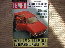 TEMPO #37 1965 OPEL KADETT 1100 DIGA MATTMARK SENTA BERGER ANNA KARINA GIMONDI