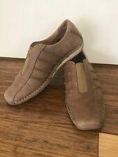 COLORADO women's Brown Leather Sneakers Loafers Walking Runners Sz 7 38