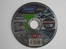 Disques de tronconnage Norton Expert Ø 115 Epaisseur 1.6 pour meuleuse