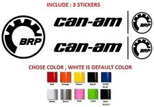 (#231) 2 X CAN-AM LOGO STICKER DECAL EMBLEM + 1 FREE BRP STICKER
