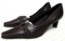 KENNEL UND SCHMENGER women's size 4 UK 6.5 U.S. brown leather med heel