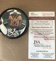 Brent Burns San Jose Sharks Signed Autographed Chewbacca Puck JSA/Burns holo