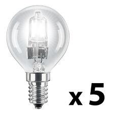 5 x SES E14 MiniSun Branded 42W  60W  Eco Halogen Golf Ball Globe Light Bulbs