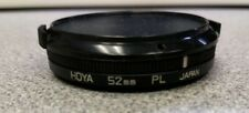 Hoya 52mm polarized filter lens with cover/cap