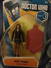 Doctor Who Wave 3 Amy Pond en chaqueta marrón 3.75 Pulgadas Figura