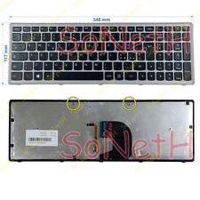 Tastiera Lenovo IdeaPad Z500 Z500A 25206553 Nera Frame Silver ILLUMINATA ITA