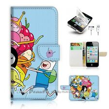 ( For iPhone 4 / 4S ) Flip Case Cover! P0985 Adventure Time