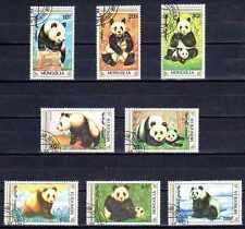 Mongolie 1990 Pandas (68) Yvert n° 1765 à 1772 oblitéré used