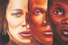 "African American Black Art Print ""GRADATIONS I (MINI)"" by Poncho Brown"
