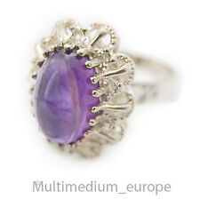 Silber Ring  Amethyst Cabochon  silver ring antique 30s