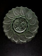 DEPRESSION GREEN GLASS FROSTED PLATE