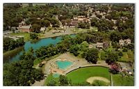 1967 Aerial View of Fort Edward, NY Postcard