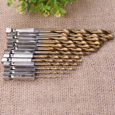 13pcs 1.5-6.5mm HSS Quick Change Hex Shank Titanium Cobalt Coated Drill Bit Set