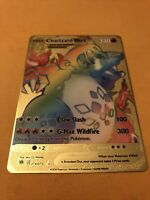 Charizard Pokemon VMAX Rainbow Gold Custom Metal Card Champions Path