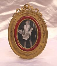 Magnificent 1900 French Enameled Bronze Oval Picture Frame