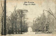 Broad Street, After the Ice Storm, Feb 1909, Gloversville Ny