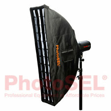 PhotoSEL SBSR2X9BE 22 x 90cm Strip Softbox & Honeycomb Grid Bowens S Speed Ring