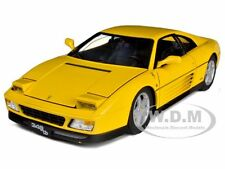 1989 FERRARI 348 TB YELLOW ELITE EDITION 1/18 DIECAST MODEL CAR HOTWHEELS V7437
