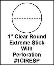 "Crystal Clear Round Perforated Label Roll 1"" Extreme Stick Adhesive Seal 1CIRESP"