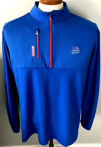 Men's The Honda Classic Adidas Climalite 1/4 Zip Pullover Jacket Blue Size XL