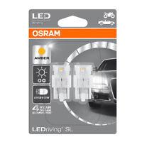 Osram LED W21/5W T20 DC Amber Indicator Signal Bulbs 580 W3x16q Wedge 7716YE-02B