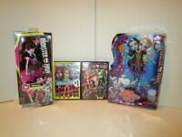 NIP New Monster High Great Scarrier Reef Peri & Pearl +Draculaura Doll +BONUS