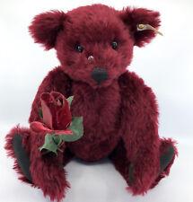 Steiff Dew Drop Rose Teddy Bear Mohair Plush LE3500 40cm 16in 1999 ID Button Tag