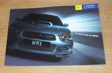 Subaru Impreza WR1 Limited Edition Brochure 2004