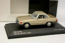 White Box 1/43 - Mercedes 350 SL R107 1971 Beige métal
